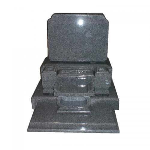 Black Polished Tombstone